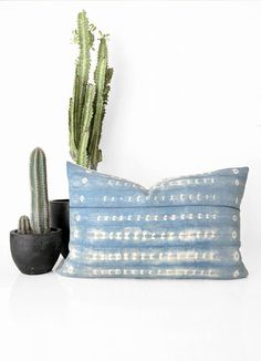 Boho Indigo Throw Pillow perfect for creating your dream bohemian interior. Created by San Junipero