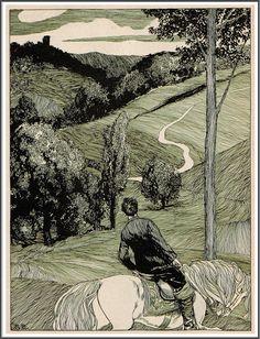 """Robert Engels (1866-1926), Illustration pour """"Jugend Magazine"""" - Octobre 1896"""