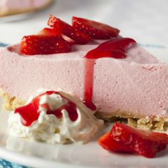 Strawberry Mousse Cheesecake Recipe from Grandmother's Kitchen
