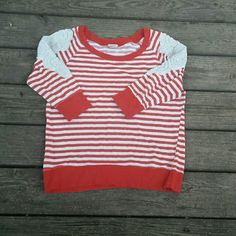 Daytrip red and white long sleeve Daytrip red and white long sleeve. Size large. EUC. Daytrip Tops