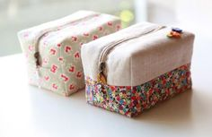 Block Zipper Pouch Tutorial