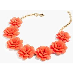 J.Crew Rose Wreath Necklace ($180) ❤ liked on Polyvore featuring jewelry, necklaces, rosette necklace, beading jewelry, beaded jewelry, j.crew and bead necklace