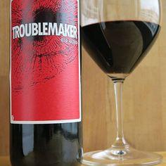 Troublemaker. #viini #herkkusuu #lasissa #Herkkusuunlautasella #punaviiniä #punaviini #punkku #punkkua #perjantaipullo