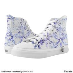 Purchase a wonderful pair of Beach sneakers & athletic shoes from Zazzle. Interchangeable covers allow you to have different shoes everyday of the week! Sneakers For Sale, High Top Sneakers, Shoes Sneakers, Women's Shoes, Flower Shoes, Sneaker Stores, Trendy Shoes, Converse Chuck Taylor, Designer Shoes