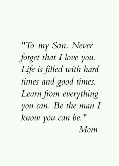 To my sons