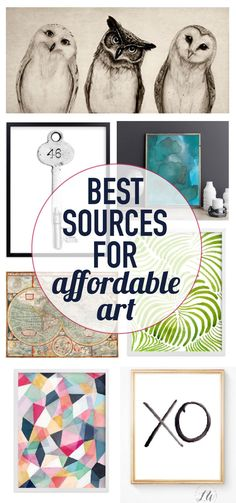 Need some cool wal art for a gallery wall or to fill empty walls in your home? This is the best list of sources for affordable art prints and cool wall art I have seen!