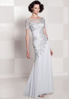 Cameron Blake 114662 Silver Mother Of The Bride Dress