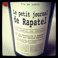 Domaine Rapatel Le Petit Journal Un vin de Presse!