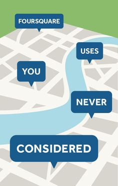 6 Uses for Foursquare You Never Considered click here:  http://infobucketapps.com