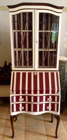 malowane pasy dla klienta!  Burgundy i Original, Annie Sloan Chalk Paint.  Brush by MacDonald Wlodarski, Warszawa, Polska!!