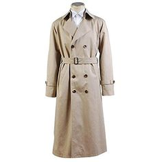 HOLRAN Supernatural Cosplay Costume Angel Castiel Male Trench Coat Meduim *** You can get additional details at the image link.
