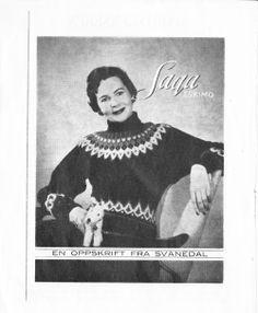 Saga Eskimo - Svanedal Norwegian Knitting, Beautiful Patterns, Fiber Art, Christmas Sweaters, Knitting Patterns, Knit Crochet, Artsy, Retro, Jumpers