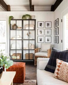 Living Tv, Living Spaces, Living Rooms, Family Rooms, Loft, Photo Corners, Studio Mcgee, Dining Nook, Blank Walls