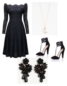 """Mila's party wear"" by pantsulord on Polyvore featuring Little Mistress, Full Tilt and Ann Taylor"