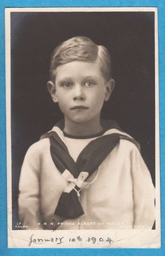 Royalty: H.R.H. Prince Albert of Wales - Future King George VI - RP PC (P532)