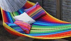 Beautiful Rainbow Mexican Hammock!!