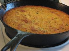 Smoked Bacon & Onion Sweet Cornbread: This cornbread is done in true southern style. I'll take it even further and say Texas Style! You cook the cornbread in the same cast iron skillet that you cooked the bacon, leaving the bacon grease in the skillet. Then you cook it and serve it in the same cast iron skillet. What a delicious crust this makes!