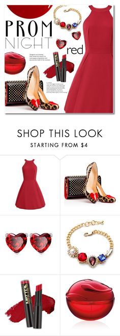 """Prom nighte"" by fshionme ❤ liked on Polyvore featuring Christian Louboutin, DKNY, RGB and PROMNIGHT"