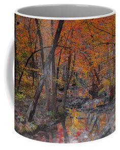 Autumn Reflection Coffee Mug by Scott Hervieux.  Small (11 oz.)