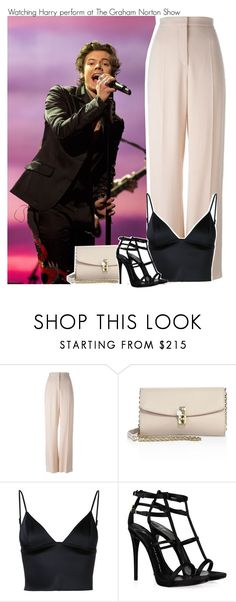 """""""Watching Harry perform at The Graham Norton Show"""" by perfectharry ❤ liked on Polyvore featuring STELLA McCARTNEY, Dolce&Gabbana, T By Alexander Wang and Giuseppe Zanotti"""