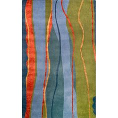 Wave Rug 5' x 8' via The Beach Look. Click on the image to see more!