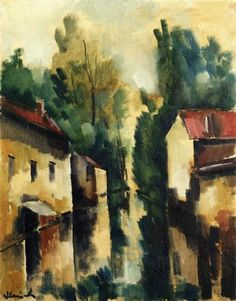 The Flodded Village - Maurice de Vlaminck Completion Date: 1910 Style: Post-Impressionism Genre: cityscape Technique: oil Material: canvas Dimensions: 65.2 x 50 cm Gallery: Private Collection