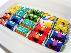 PRINTABLE CANDY WRAPPER - Sesame Street inspired monster candy Collection