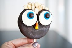 Moon Pie Owl Pops by EclecticRecipes.com