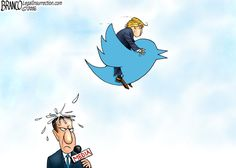 Trump's Presidential hashtag should appropriately be #SpeakingInBirdSplat ... for his constant hateful, dismissive Tweets about the Media and virtually anyone and everyone else on his infinite enemies list!!
