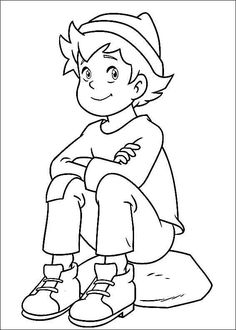 Heidi Online colouring pages. Printable colouring book for kids 6 Online Coloring Pages, Colouring Pages, Coloring Books, Heidi Cartoon, Paw Patrol, Cute Cartoon Drawings, Printable Coloring Sheets, Coloring Pages For Kids, Baby Quilts