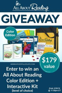 Enter to win an All About Reading Color Edition + Interactive Kit! Ends 2/28/19 #homeschoolgiveaway #homeschoolmath #homeschool