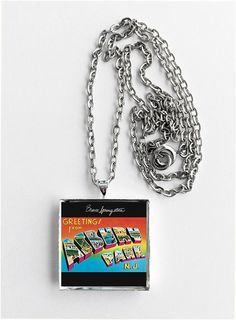Bruce springsteen greetings from asbury park nj remastered bruce springsteen greetings from asbury park nj album cover art pendant necklace m4hsunfo