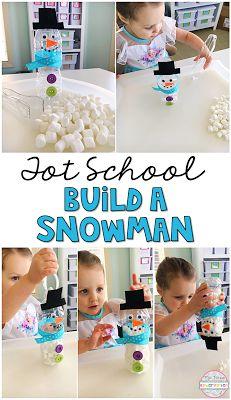 This snowman activity is great fine motor practice for tot school, preschool, or the kindergarten classroom!