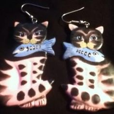 Cute Kitty Cat Earrings Free Shipping!