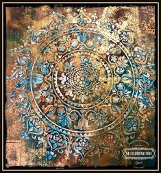 """[d]A fun project to dress your walls with the amazing Mandala..[/d] [d]I asked my husband to build a 40"""" x 40"""" board with some of the wood pieces we have from p…"""