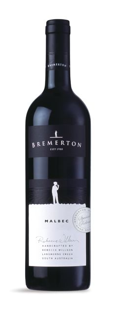 Wine Labels PD - Bremerton Wines -  Malbec (Designed by Brighter Consultancy)