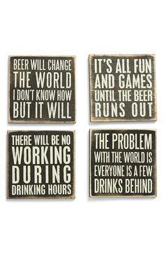 DIY Home Bar Decor Ideas – Personalized Home Bar Signs and Decor Primitives by Kathy Wood Coasters ( Home Bar Signs, Diy Home Bar, Home Bar Decor, Kitchen Decor, Man Cave Signs, Man Cave Bar, Beer Can Man Cave, Beer Quotes, Sign Quotes
