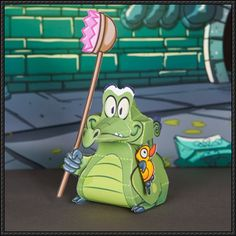 Where's My Water? - Swampy Free Papercraft Download