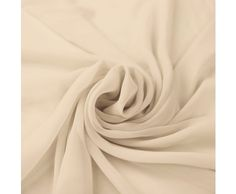 Natural Solid Hi-Multi Chiffon Fabric