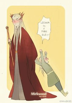 Is it possible Legolas ages into Dobby? He retired to an area with a large uranium deposit perhaps...