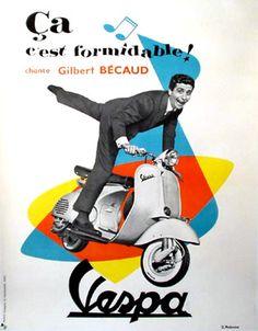 D. Ambroise Vespa Formidable Original vintage poster 1955