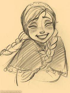 Disney's Frozen Anna Concept Art