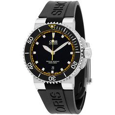 Oris-Aquis-Automatic-Black-Dial-Silicone-Strap-Men-039-s-Watch-73376534127RS