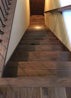 Hand Scraped Hickory Stair Treads