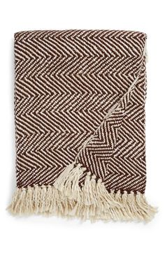 comes in maroon - Nordstrom at Home Herringbone Throw available at #Nordstrom