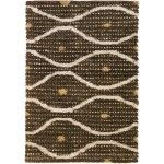 Chandra Rugs - Strata Brown Rugs - STR1189  SPECIAL PRICE: $523.70