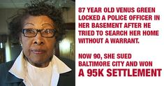 90-Year-Old Woman Wins $95k Settlement After Locking Violent Police Officer in Basement....She is just awesome