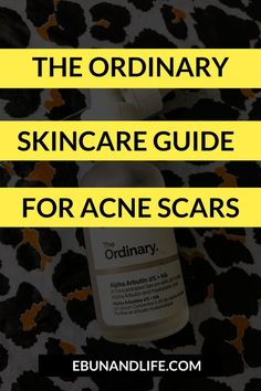 Do you have really bad hyperpigmentation? As well as blackheads and acne scars? Then you absolutely need to try The Oronary Skincare Guide for Acne Scars. #theordinaryskincare #blackheadsremoval #acnescars #acnetreatment Skincare For Oily Skin, Drugstore Skincare, Oily Skin Care, Skincare Routine, The Ordinary Skincare Guide, The Ordinary Alpha Arbutin, Korean Beauty Tips, Beauty Secrets, Beauty Products