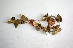 Vintage Brass & Copper Wall Art ButterFlies by QUEENIESECLECTIC, $38.00