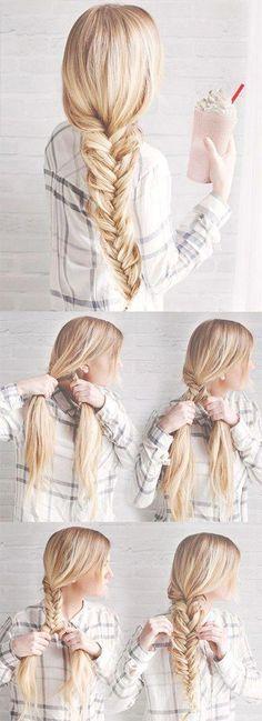wedding hairstyles easy hairstyles hairstyles for school hairstyles diy hairstyles for round faces p Easy Hairstyles For School, Braided Hairstyles For Wedding, Braided Hairstyles Tutorials, Trendy Hairstyles, Braid Tutorials, Sport Hairstyles, Ponytail Hairstyles, Hairstyles Pictures, Hairstyle Ideas